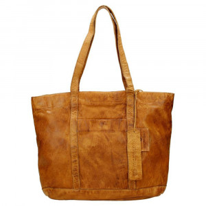 MicMacbags Phoenix Shopper Schoudertas Cognac 16556