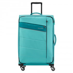 Travelite Kite 4 Wheel Trolley L Expandable Turquoise