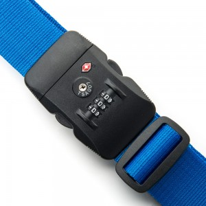 Line Travel Accessories Kofferriem met TSA Cijferslot Blue