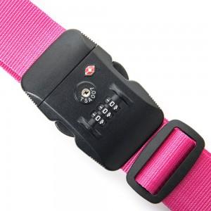 Line Travel Accessories Kofferriem met TSA Cijferslot Pink