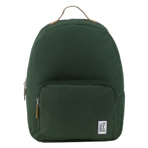 The Pack Society The Classics Rugzak Solid Forest Green