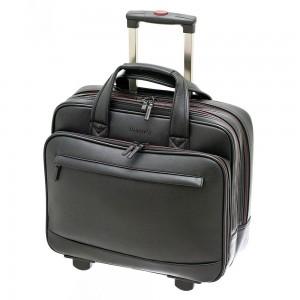 "Davidt's Oran Synthetic Trolley Bag 15"" Black"