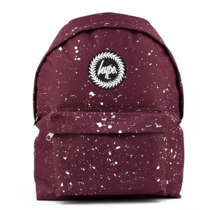 Hype Speckle Rugzak Burgundy/ White
