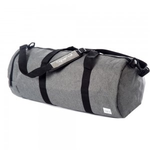 Spiral Duffel Bags Crosshatch Grey