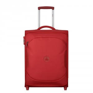 Delsey U-Lite Classic 2 Slim Cabin Trolley Case 2 Wheel 55 Red