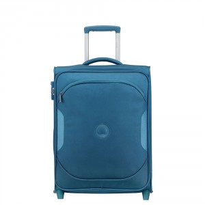Delsey U-Lite Classic 2 Slim Cabin Trolley Case 2 Wheel 55 Cyan Blue