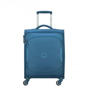 Delsey U-Lite Classic 2 Slim Cabin Trolley Case 4 Wheel 55 Cyan Blue