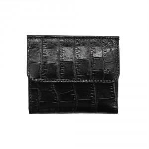 dR Amsterdam Croco Billfold Black 24535
