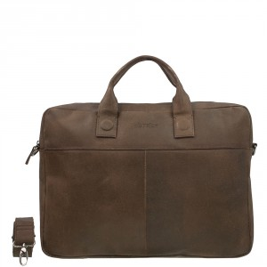 DSTRCT Fletcher Street Business Laptoptas 17'' Brown 016720