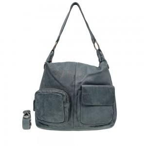 DSTRCT Stonehill Road Hobo Bag Two Pocket Jeans Blue