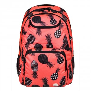 Roxy Shadow Swell Backpack Ax Neon Grapefruit Pineapple D