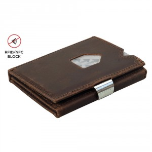 Exentri Wallet met RFID Bescherming Nubuck Brown