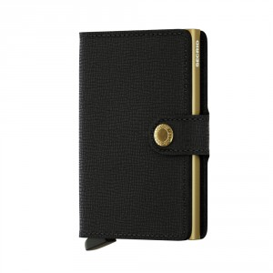 Secrid Mini Wallet Portemonnee Crisple Black Gold