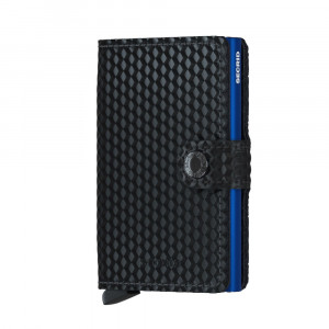 Secrid Mini Wallet Portemonnee Cubic Black Blue