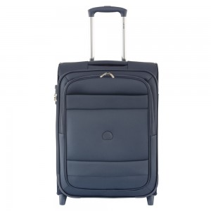 Delsey Indiscrete Slim Cabin Trolley 2 Wheel 55 Blue