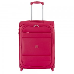 Delsey Indiscrete Slim Cabin Trolley 2 Wheel 55 Red