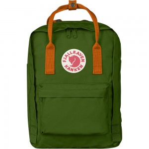 FjallRaven Kanken Rugzak Leaf Green Burnt Orange