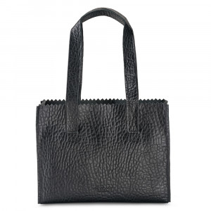 Myomy My Paper Bag Handbag Zip Bubble Black