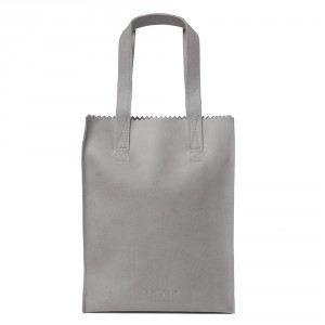 Myomy My Paper Bag Long Handle Zip Hunter Elephant Grey