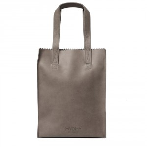 Myomy My Paper Bag Long Handle Zip Hunter Taupe