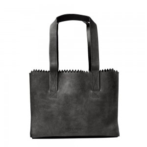 Myomy My Paper Bag Handbag Zip Hunter Off Black