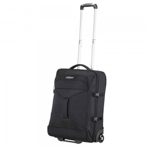 American Tourister Road Quest 2 Compartments Duffle Wheels 55 Solid Black