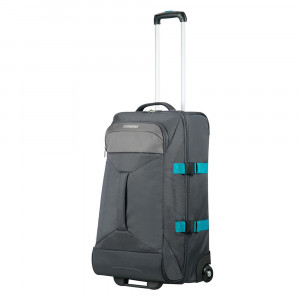 American Tourister Road Quest 2 Compartments Duffle Wheels M Grey/ Turquoise