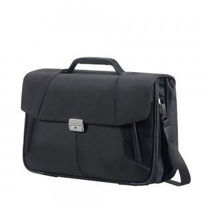 "Samsonite XBR Briefcase 3 Gussets 15.6"" Black"