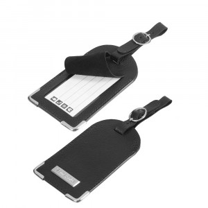 Samsonite Travel Accessoires Leather Luggage Tag Black