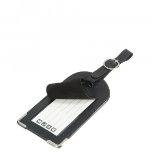 Samsonite Travel Accessoires Leather Luggage Tag Black