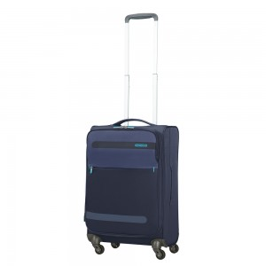 American Tourister Herolite Super Light Spinner 55 Expandable Midnight Blue