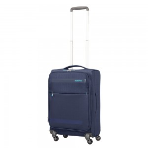 American Tourister Herolite Lifestyle Spinner 55 Expandable Navy