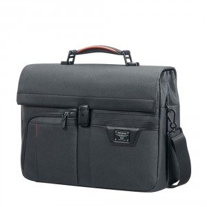 "Samsonite Zenith Briefcase 2 Gussets 15.6"" Black"