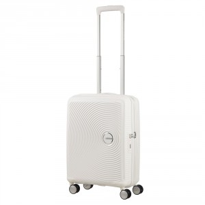 American Tourister Soundbox Spinner 55 Exp. Pure White
