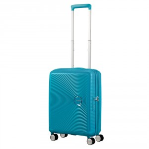 American Tourister Soundbox Spinner 55 Exp. Summer Blue