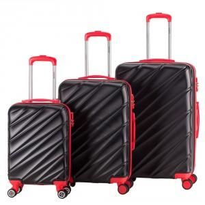 Decent Lumi Fix 3-Delige Kofferset Black/Red