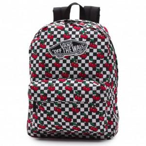 Vans Realm Rugzak Cherry Checkers Black/True White