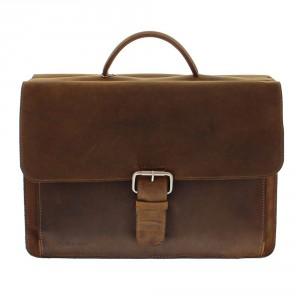 "Plevier Business/ Laptoptas Vintage 3-Vaks 15.6"" Brown 553"