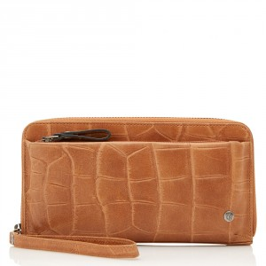 Castelijn & Beerens Cocco RFID Smartphone Rits Portemonnee Lichtbruin 5514