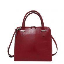 Claudio Ferrici Classico Handbag Schoudertas Red