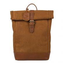 """Burkely Soul Sam Rolltop Backpack 15.6"""" Cognac"""