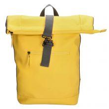 Charm London Neville Waterproof Roll Top Backpack Yellow