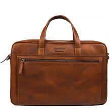 "DSTRCT Premium Collection Laptopbag 2-vaks 15.6"" Cognac"