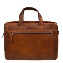 "DSTRCT Premium Collection Laptopbag 17"" Cognac"