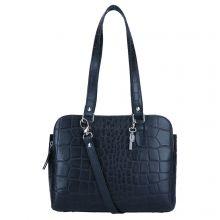 LouLou Essentiels Vintage Croco Bag Black