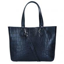 "LouLou Essentiels Vintage Croco Bag 15"" Black"