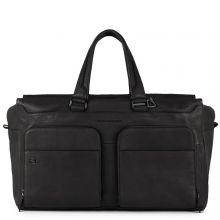 Piquadro Black Square Laptop And iPad Travel Bag USB With CONNEQU Black