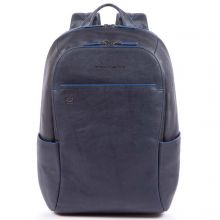 Piquadro Blue Square S Matte Small Size Computer Backpack Blue