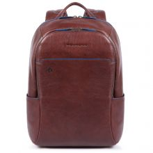 Piquadro Blue Square S Matte Small Size Computer Backpack Dark Brown