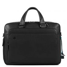 "Piquadro Black Square Briefcase 15"" Black"